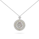"Engraved ""Mashallah"" White Gold Diamond Necklace"