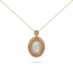Engraved Qur'an Yellow Gold Diamond Necklace
