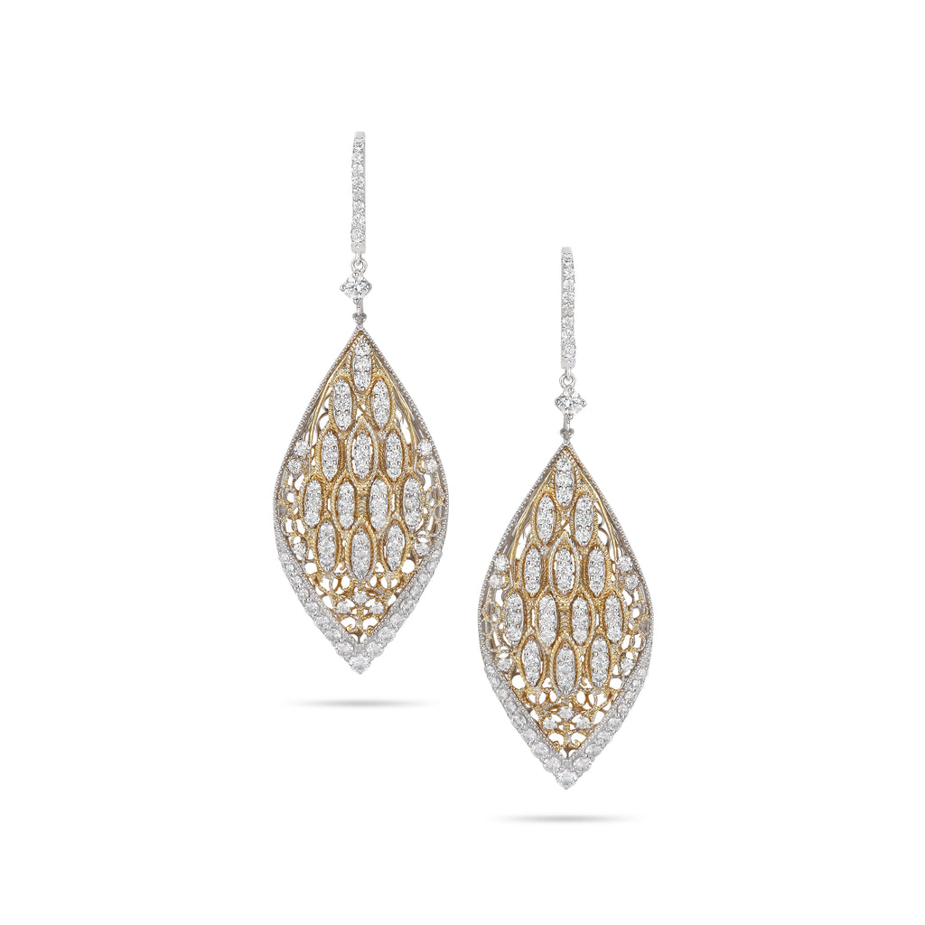 Marquise Pave Diamond Earrings
