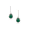 Emerald & Diamond Accented Earrings