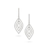 Multi Layered Diamond Dangled Earrings