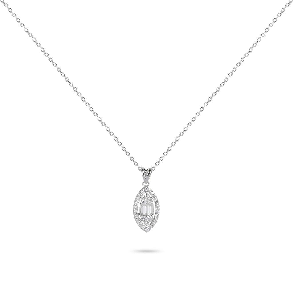 Framed Illusion Diamond Necklace