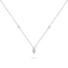 Pear Shaped Illusion Diamond Necklace