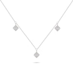 Square Diamond Charm Necklace