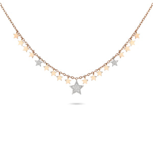 Dangling Stars Diamond Necklace