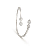 Double Pear Shape Full Diamond Cuff