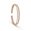 Double Baguette & Rose Gold Diamond Cuff