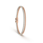 Two-Tone & Diamond Double Bangle