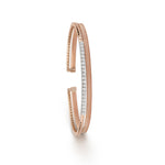 Layered Rose Gold & Diamond Cuff