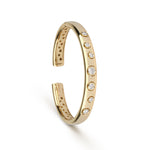 Yellow Gold & Diamond Cuff Bracelet
