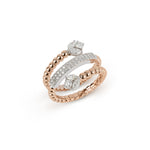 Spiral Rose Gold & Diamond Ring