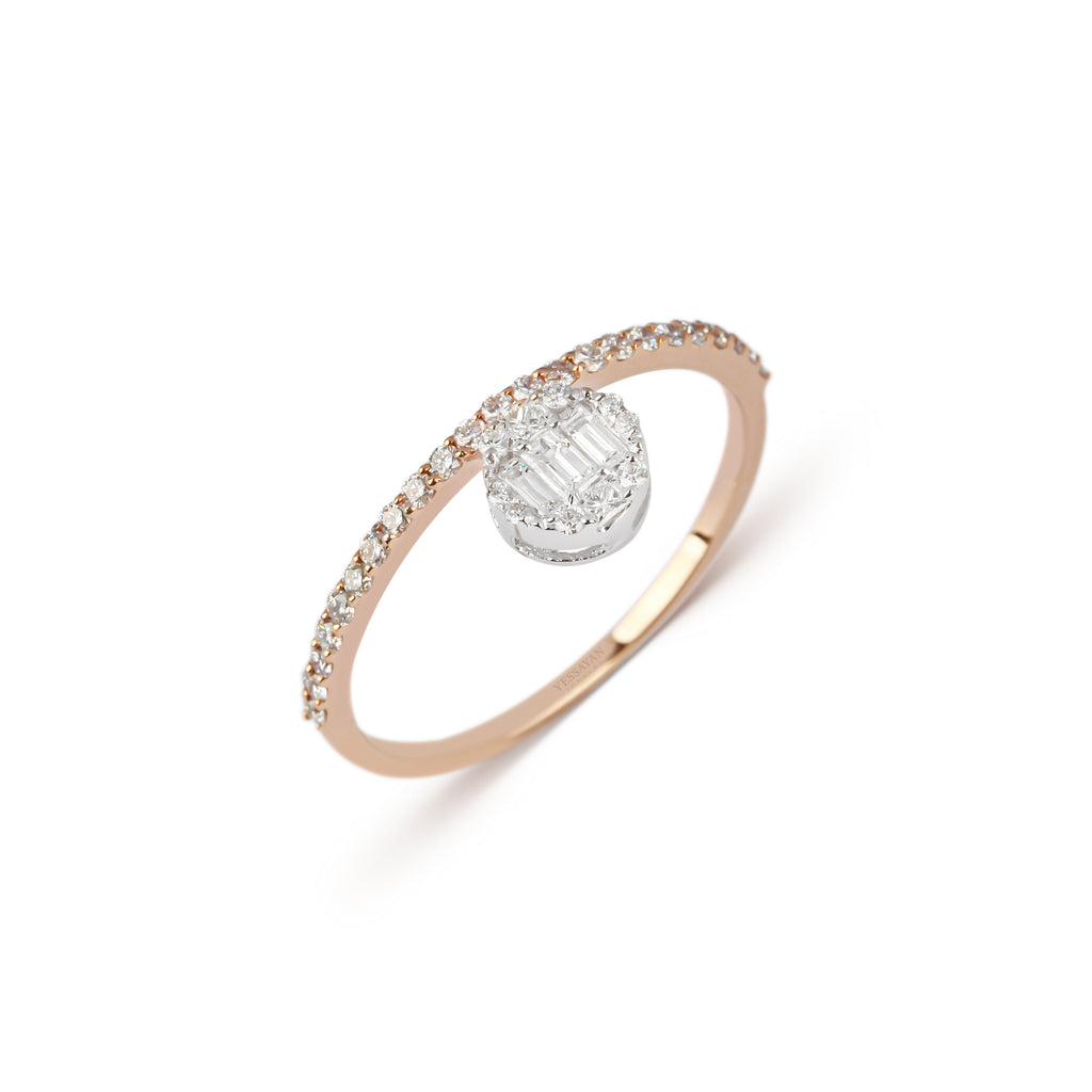 Two-Tone Diamond Band Ring