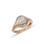 Rose Gold Textured Illusion Diamond Ring