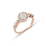 Rose Gold Pave Diamond Ring