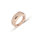 Diamond Flow Line Rose Gold Ring