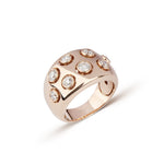 Rose Gold & Bezeled Diamond Ring