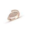 Pave Marquise Diamond Twist Ring