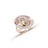 Rose Gold & Marquise Arc Diamond Ring