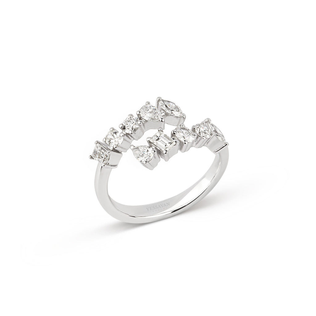Multiple Cut Diamond Ring
