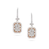 Small Two-Tone Illusion Drop Diamond Earrings
