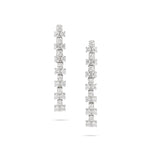 Patterned Diamond Drop Earrings