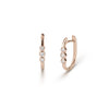 Small Rose Gold  Diamond Huggie Earrings