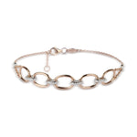 Two Tone Chain Diamond Bracelet