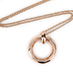 Small Circle Diamond Pendant Necklace