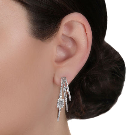 Multi Hoop Diamond Earrings