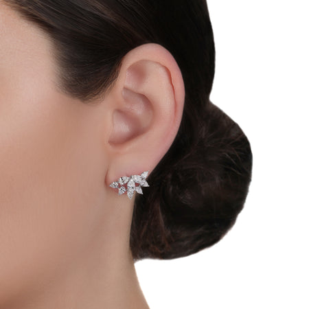 Diamond Clip-On Earrings