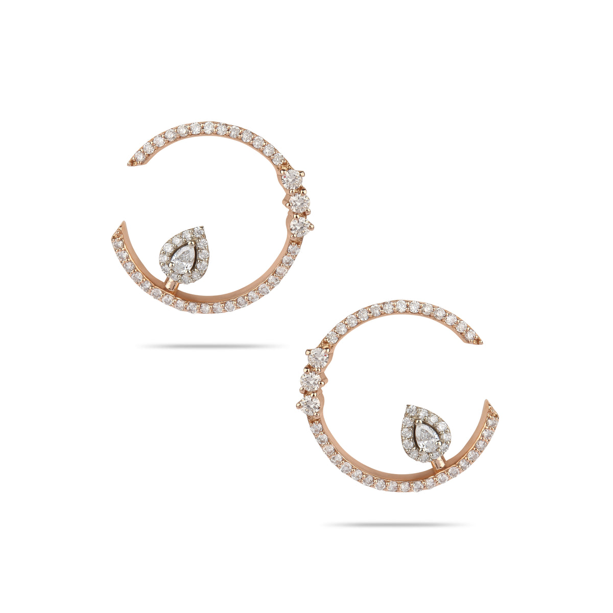 Rose Gold & Diamond Drop Earring