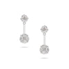 Attachable Illusion Diamond Stud Earrings
