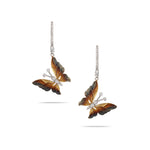 Butterfly Diamond Drop Earrings