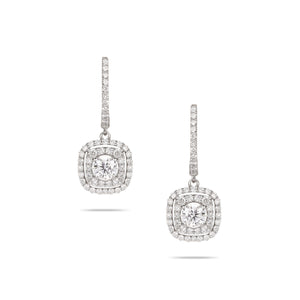 Single Diamond Drop Earrings