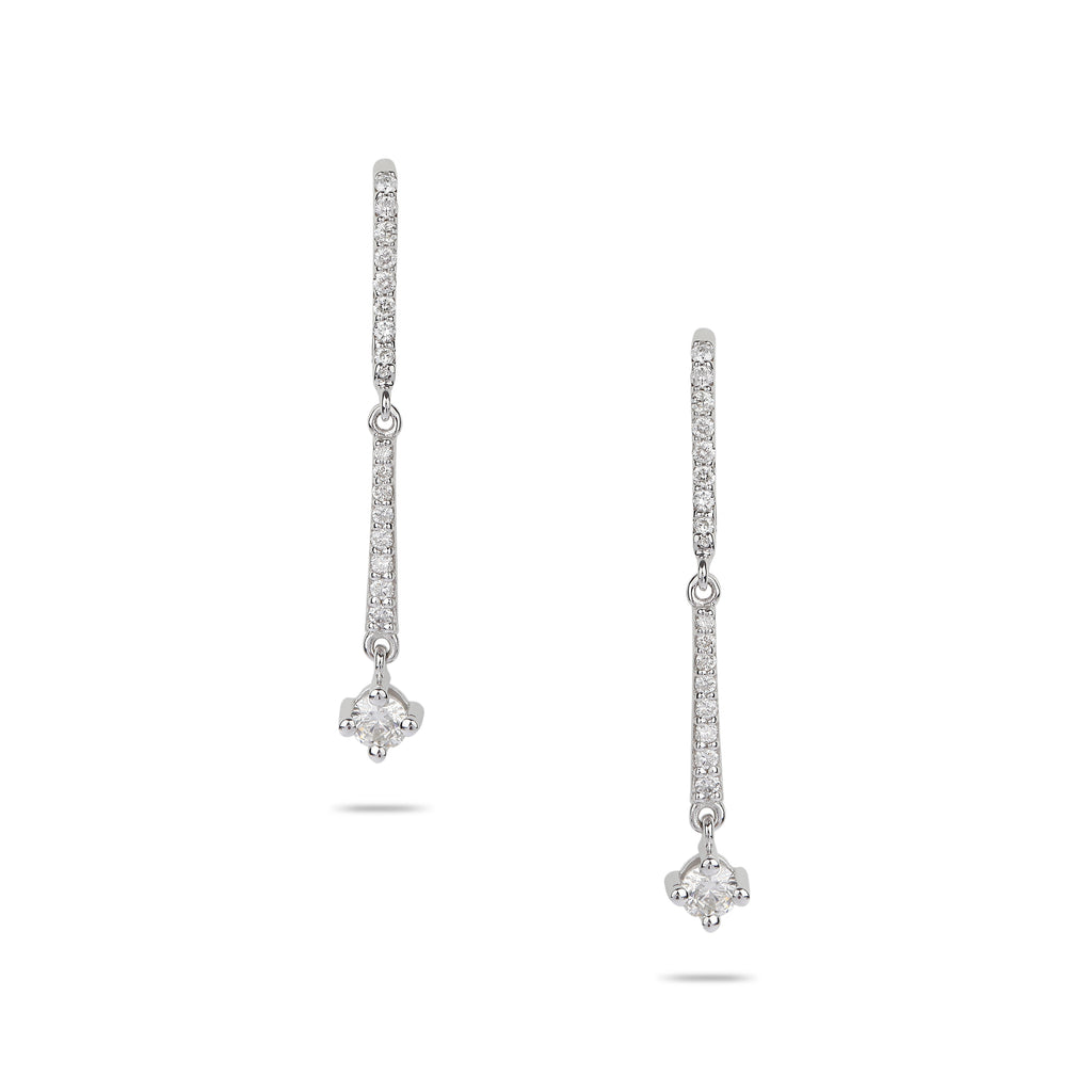 Hanging Diamond Drop Earrings