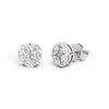 Big Diamond Illusion Stud Earrings