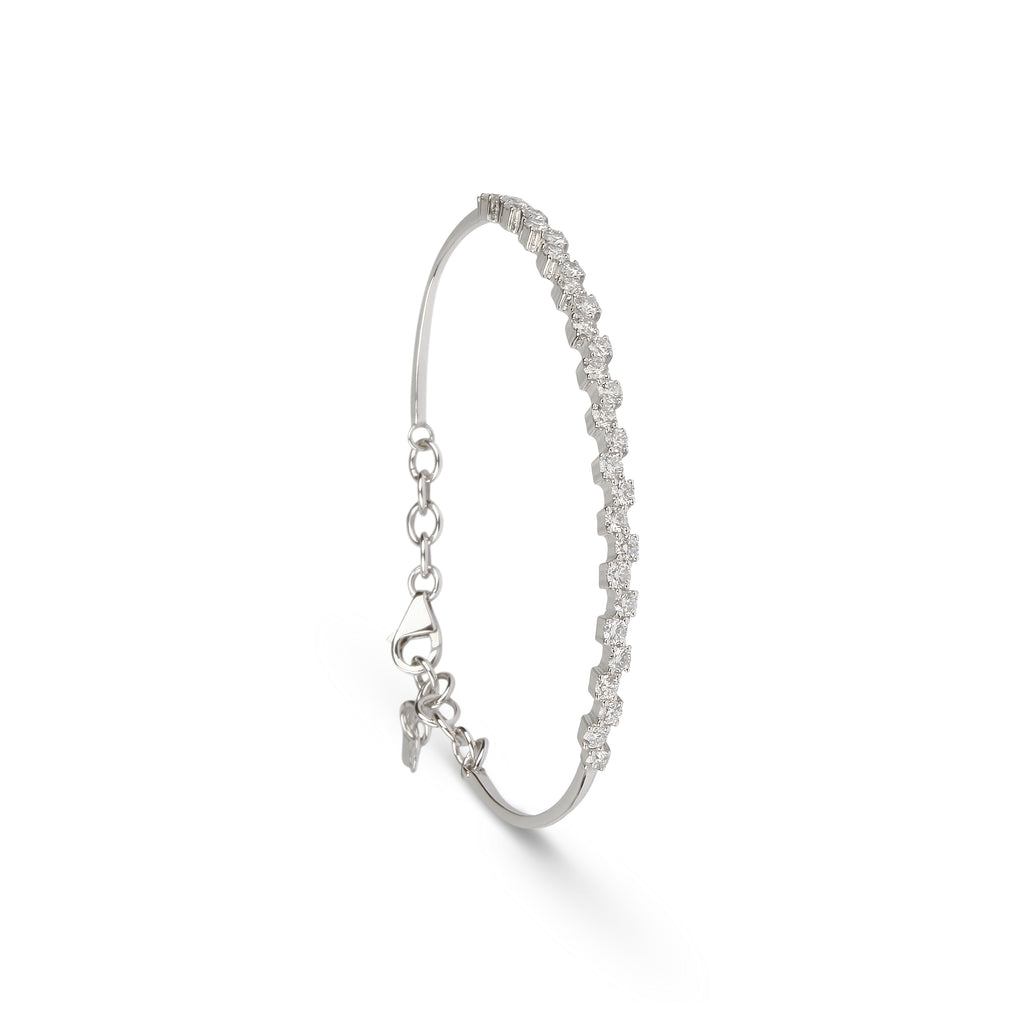 Misaligned Diamond Cuff Bracelet