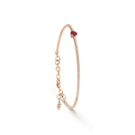 Heart Shape Ruby & Diamond Cuff Bracelet