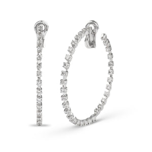 Hoop Diamond Earrings