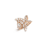 Rays of Pear Shaped Diamonds & White/Rose Gold Ring