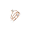 Pear & Round Diamonds Rose Gold Ring