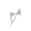 Double Triangle Diamond Ring