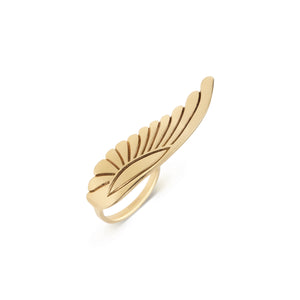Yellow Gold Wing Ring