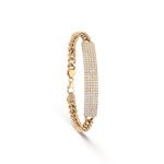 ID Cuban Link Diamond Bracelet