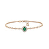 Rose Gold Bracelet with Diamond & Emerald