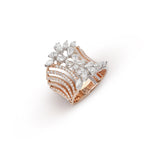 Pear & Marquise Shape Diamonds and Rose Gold Ring