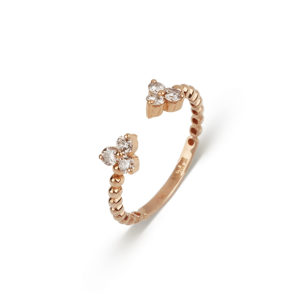 Stackable Lili Flower Diamond Ring