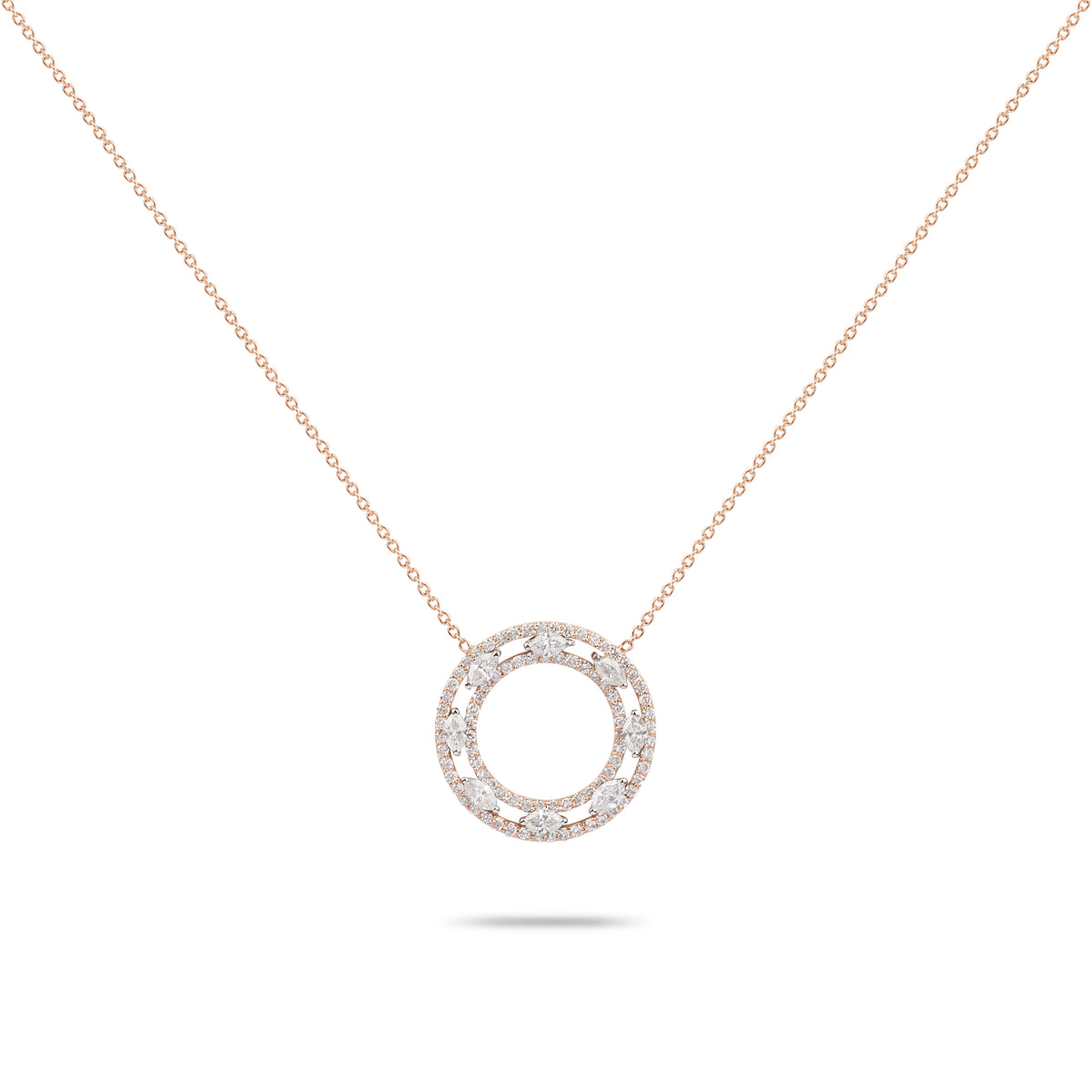 Rose Gold & Diamonds Necklace