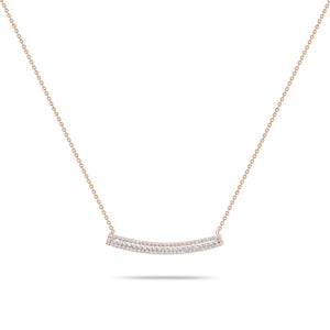 Rose Gold with Diamonds Necklace