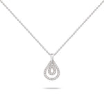 Double Pear Layers Diamond Necklace